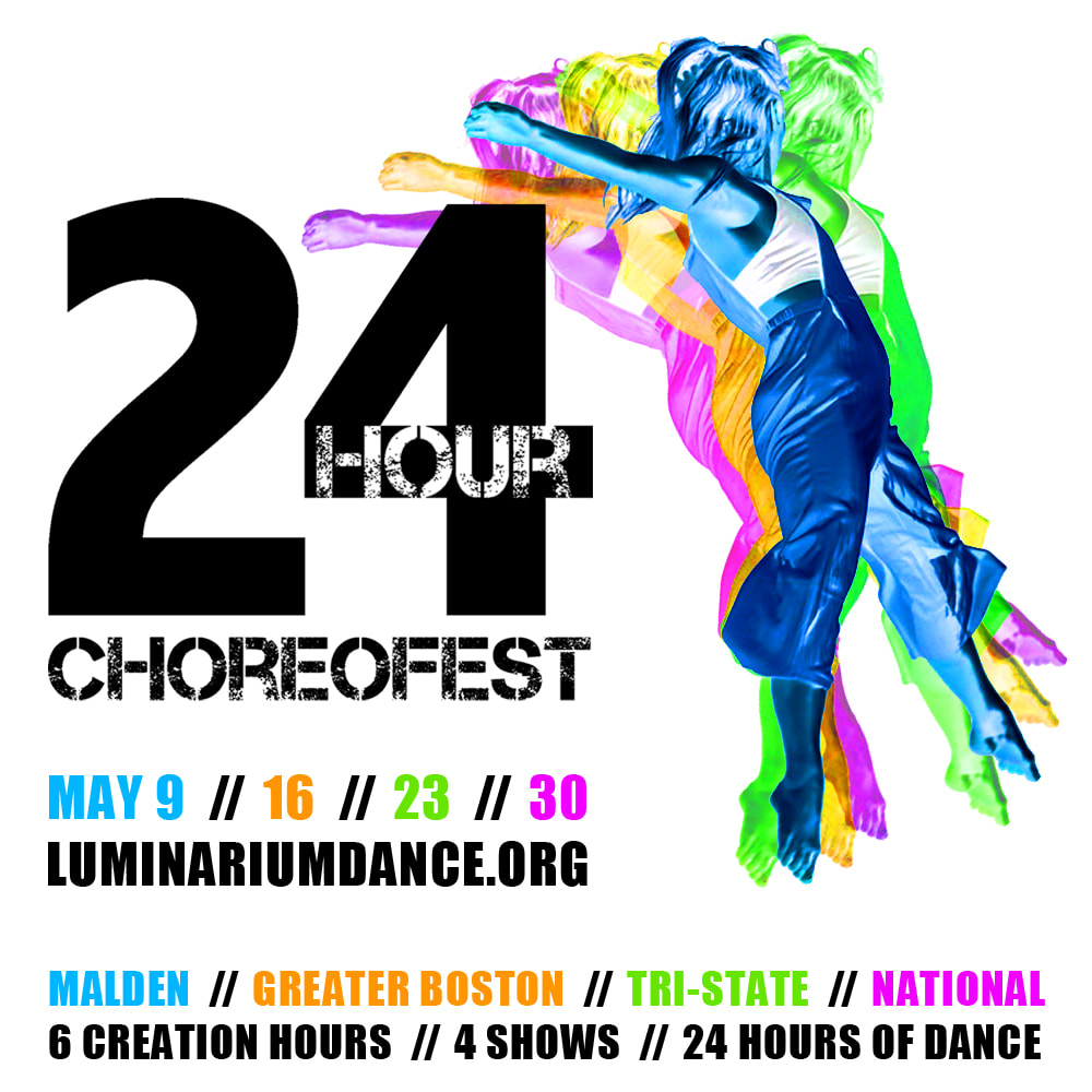 Four colored woman dancing.  ChoreoFest logo